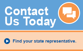 Contact Us Today - Find your state representative.