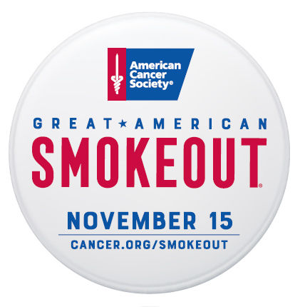 American Cancer Society Great American Smokeout logo