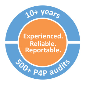Experienced. Reliable. Reportable. 10+ years. 500+ P4P audits.